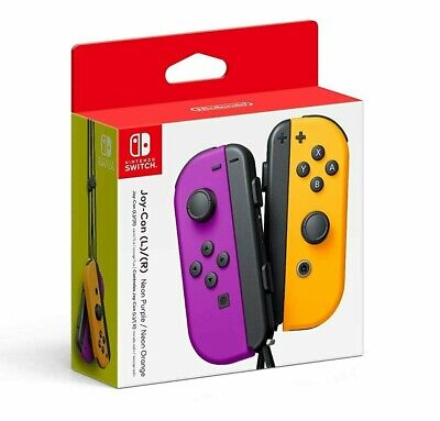 Nintendo Neon Purple/ Neon Orange Joy-Con (L-R) - Switch NEW