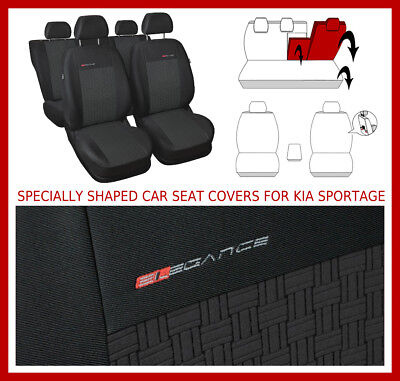 Fully Tailored Car seat covers for KIA SPORTAGE IV 2015 - on  full set