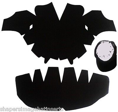3Pk. BLACK-One Size Fits All Caps Insert & Panel Hat Shaper Combo| Fitted Liner
