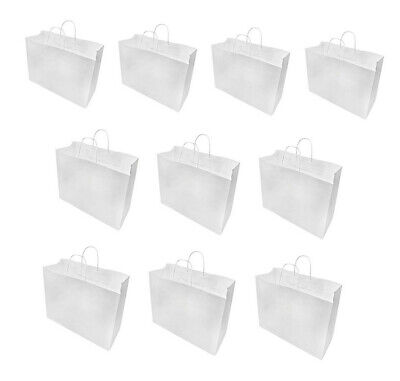 16 X 6 X 12 White Recycled Paper Vogue Shopping Bag - 10 Pc
