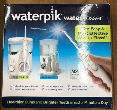 Waterpik Ultra Plus and Nano Water Flosser Combo Pack (Check description) Nano Combo Pack