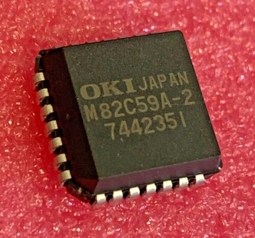 M82C59A-2 OKI, Programmable Interrupt Controller, PLCC 28, (Qty 4)
