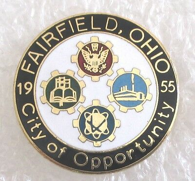 City of Fairfield, Ohio Travel Souvenir Collector Pin-City of Opportunity 1955](City Of Fairfield Ohio)