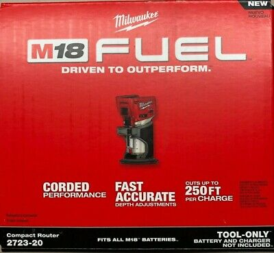 Milwaukee 2723-20 M18 Fuel Compact cordless Router (bare tool) 2 DAY SHIPPING