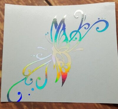 Home Decor Items On Sale  Holographic Butterfly  Vinyl Window Car Decal Free Next Day Ship