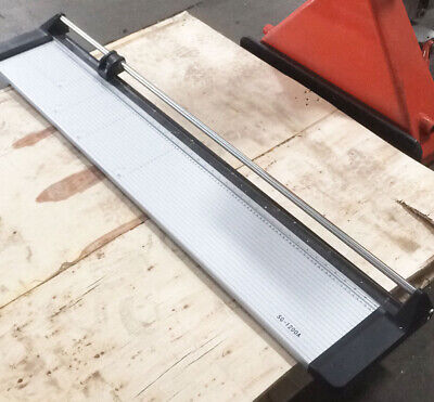 Slightly Used 47 Manual Rotary Paper Cutter Trimmer Wide Format 1 Spare Blade