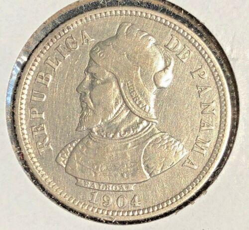Panama  1904  10 Centesimos KM 3 VF detail