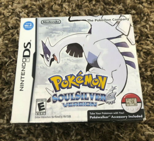 USED OUTER BOX ONLY - NO GAME - POKEMON SOULSILVER - NINTENDO DS