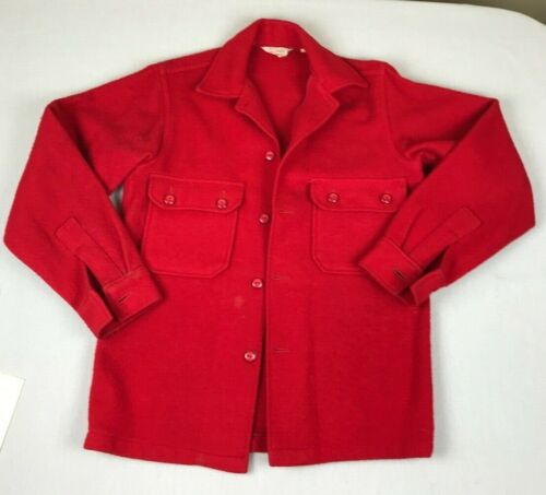 Vintage BSA Boy Scouts of America Red Wool Official 552 JACKET Youth Size 18