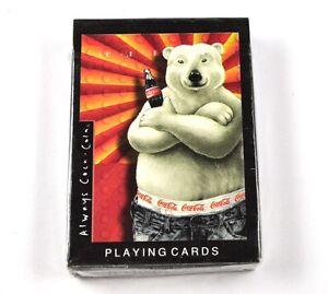COCA-COLA-COKE-cartas-juego-EE-UU-DE-PLAYING-CARDS-Eisbar-Motivo