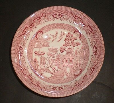 Churchill England Willow Rosa (Pink Willow) Coupe Cereal Bowl, 6