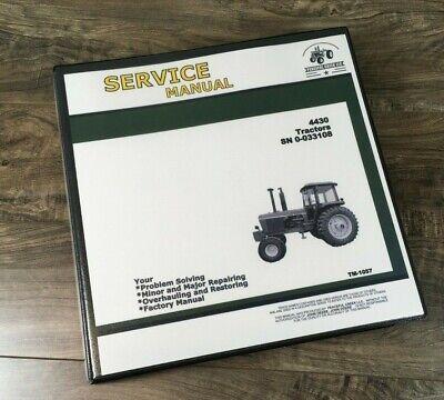 Service Manual For John Deere 4430 Tractor Repair Technical Shop Book Sn -033108