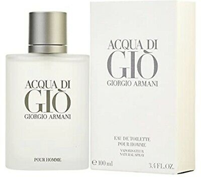GIORGIO ARMANI ACQUA DI GIO 100ml 3.4fl oz COLOGNE FULL SIZE NEW SEALED IN BOX