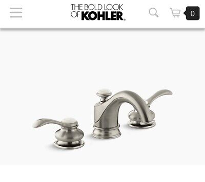Brand new Kohler Fairfax Faucet 12265-4-BN Brushed Nickel Two Handle with Drain Bn Fairfax Two Handle