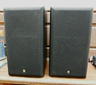 KEF Cresta Stereo Speakers - 70W - black finish - used - great condition.