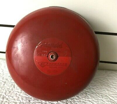 Red Vintage Edwards 7 Adaptabel 340 Vibrating School Fire Alarm Bell