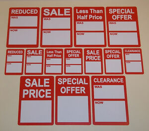 Bright-Red-Sale-Reduced-Clearance-Price-Point-Stickers-Swing-Tag-Sticky-Labels