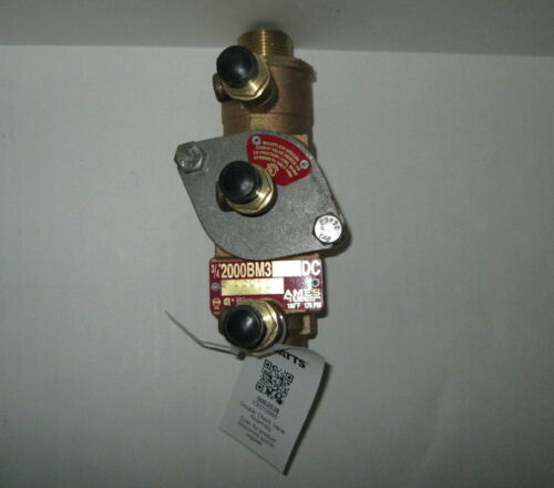 New 1 Watts Ames 3/4 2000B-M3-LBV-UL Double Check Valve Assembly 175 PSI