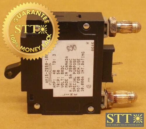 Am1s-z550-10w Heinemann 40 Amp Mid Trip Bullet Circuit Breaker 80 Vdc