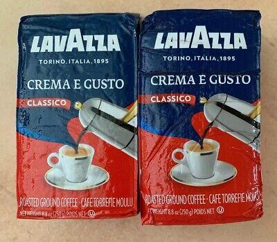Lavazza Crema E Gusto Classico Roasted Grd Coffee 8.8oz Brick BB 1/20 Lot Of 2 M (Coffee 2 Oz Brick)