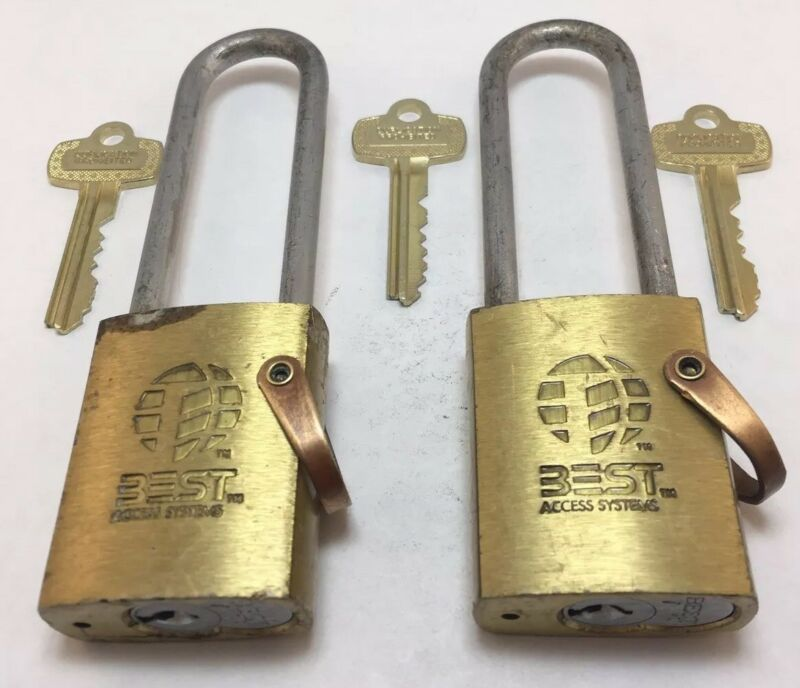 Lot of 2 Best SFIC I/C Core Padlock with Operating and Control Keys