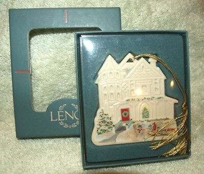 NEW *LENOX* CHINA Victorian House Collection CAMBRIDGE MANOR Christmas Ornament China Manor House