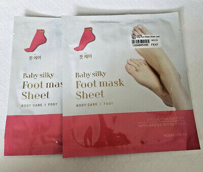 Holika Holika Baby Silky Foot Mask Sheet--2 PAIRS--FREE SHIPPING--US SELLER