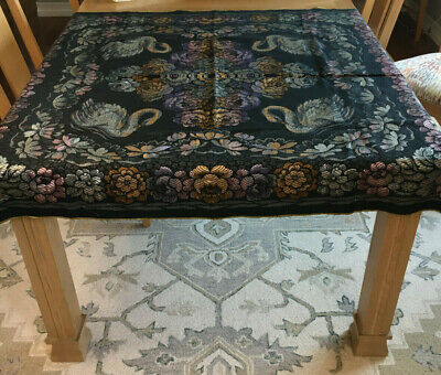 Italian Tapestry Square Tablecloth - Vintage With Tag - Excellent Condition