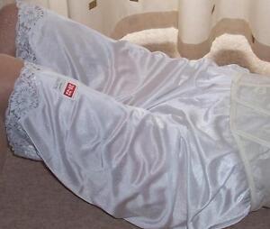 Cream vintage style soft nylon pantie slip~pettipants~culottes size 20~22