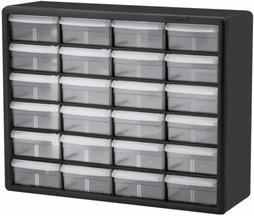 Akro-Mils 24 Drawer 10124, Plastic Parts Storage Hardware and Craft Cabinet