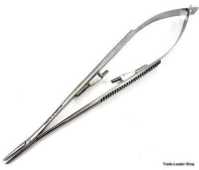 Castroviejo Needle Holder 18 Cm 7 Straight Lock Dental Surgical Suture Natra