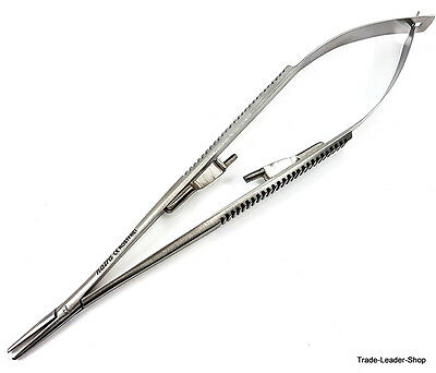 Castroviejo Needle Holder Lock 14 Cm 5.5 Straight Dental Surgical Suture Natra