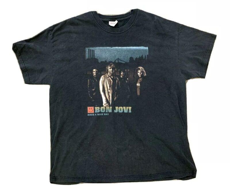 Bon Jovi Have A Nice Day North American Tour T Shirt 2005 To 2006 Sz 2XL