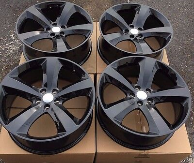 "SET OF FOUR 4 20"" x8"" WHEELS RIMS for DODGE CHARGER CHALLENGER MAGNUM BLACK NEW"