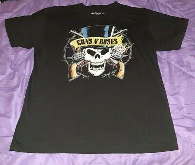 Large men's Guns 'n' Roses short sleeve black skull top hat t-shirt