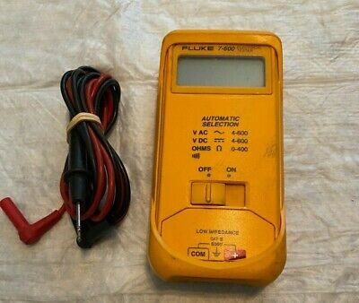 Fluke 7-600 Electrical Tester Multimeter W Leads Works Great Free Ship