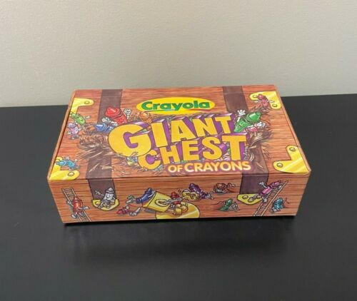 RARE Crayola Giant Chest of Crayons Empty Pencil Cardboard Box Case - 1997