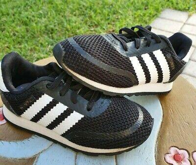 Adidas Black/White Toddler 8C