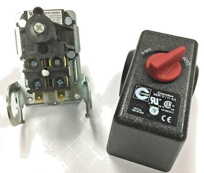 Air Compressor Pressure Regulator Switch 100-125 Psi 4 Port 26 Amps 120240v