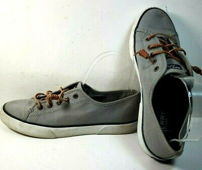 Sperry Top Sider Gray Seacoast Canvas Shoes STS95729 Women's Size 8.5M  Sperry Canvas Shoes