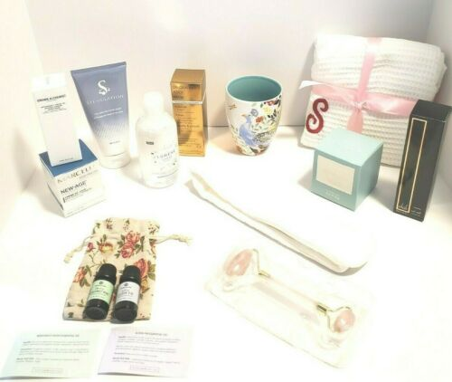"FabFitFun Subscription Box Lot Spa Wrap ""S"" Margot Elena Mug Grown Alchemist Oil"