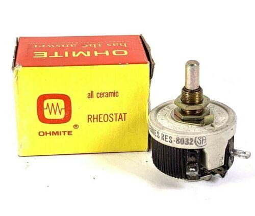 Ohmite 25 Watt 15 Ohms 1.3A Rheostat Model H Stock #146 NEW Old Stock