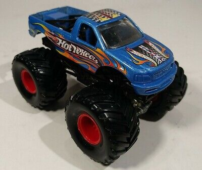 MONSTER TRUCK Hot Wheels Racing 1/64 BLUE HOTWHEEL Red Mags Free Shipping