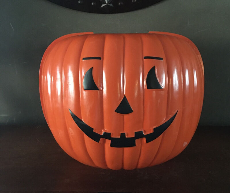 Vintage 1991 Twi-Lite Halloween Pumpkin JOL Outdoor Decor Lamp Post Cover