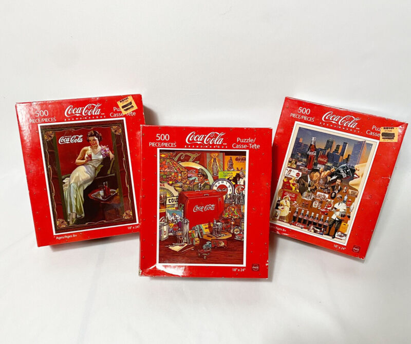 Coke Cola Collectible - NEW Vintage Look 500 Piece Puzzle 18 x 24- Sealed In Box