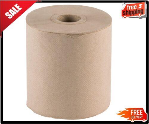"12 CASE 8"" Standard Duty Brown Towel Paper Commercial Dispenser Kraft Roll 600"