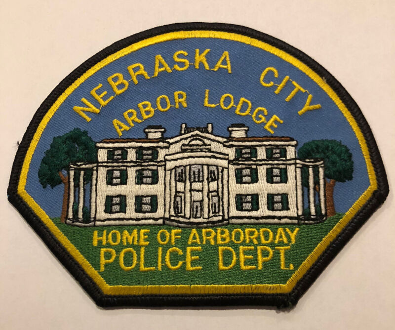 Nebraska City Arbor Lodge Police Patch ~ New Condition