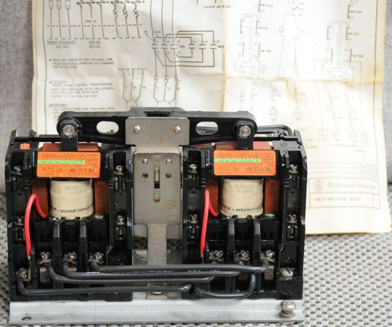 NOS Klockner Moeller Interlocking reversing Contactor DIL 0-22-NA W. Germany