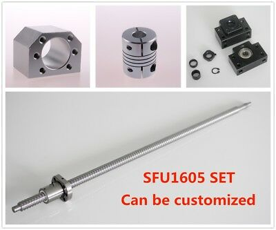 Ball Screw Sfu1605 L250mm-1050mm Nut Housing Bk12 Bf12 6.35x10 Coupler Set