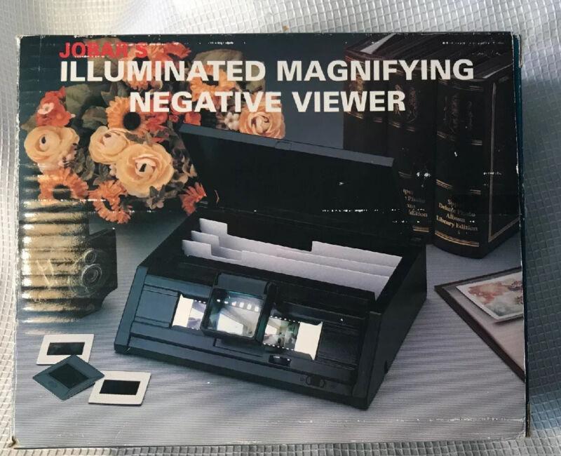 Jobars Illuminated Magnifying Negative Viewer. Battery Powered Used Nice